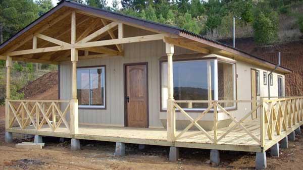 Dise o de caba a de 78 metros cuadrados for Disenos de cabanas