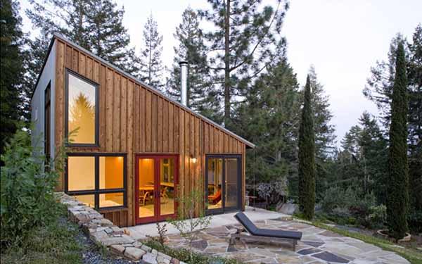 Dise o innovador de caba a o casa estudio para zona rural for Modular homes less than 1000 square feet