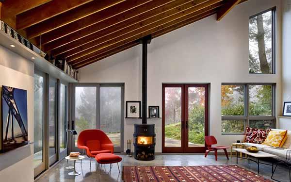 Diseño innovador de cabaña o casa estudio para zona rural