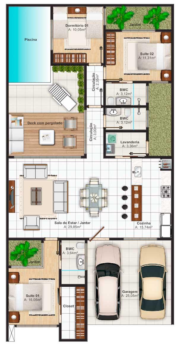Plano de casa grande con piscina de estilo mediterr neo for Creador de planos sencillos para viviendas y locales