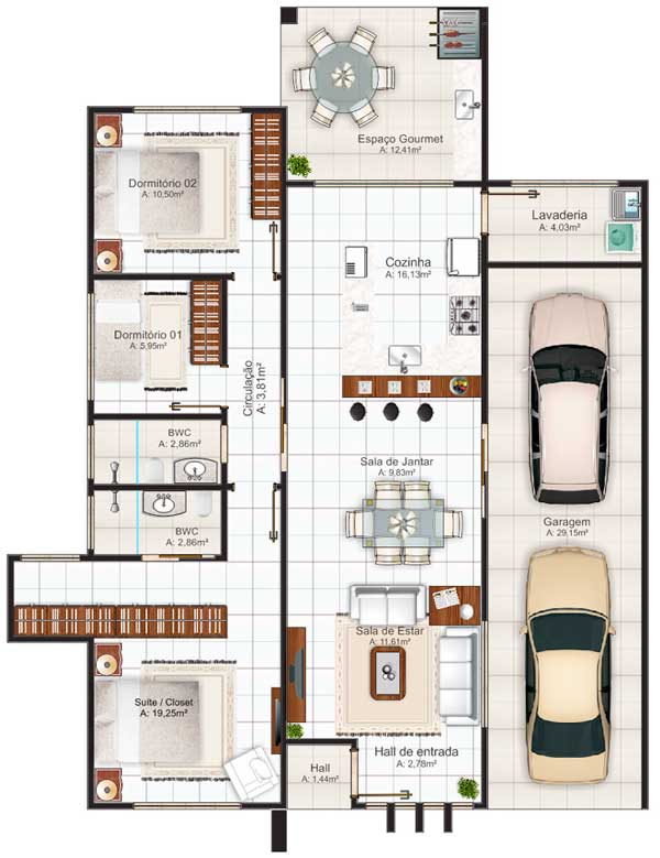 Plano de casa con modelo vacacional de mas de 140m2 for Casa moderna 140 m2