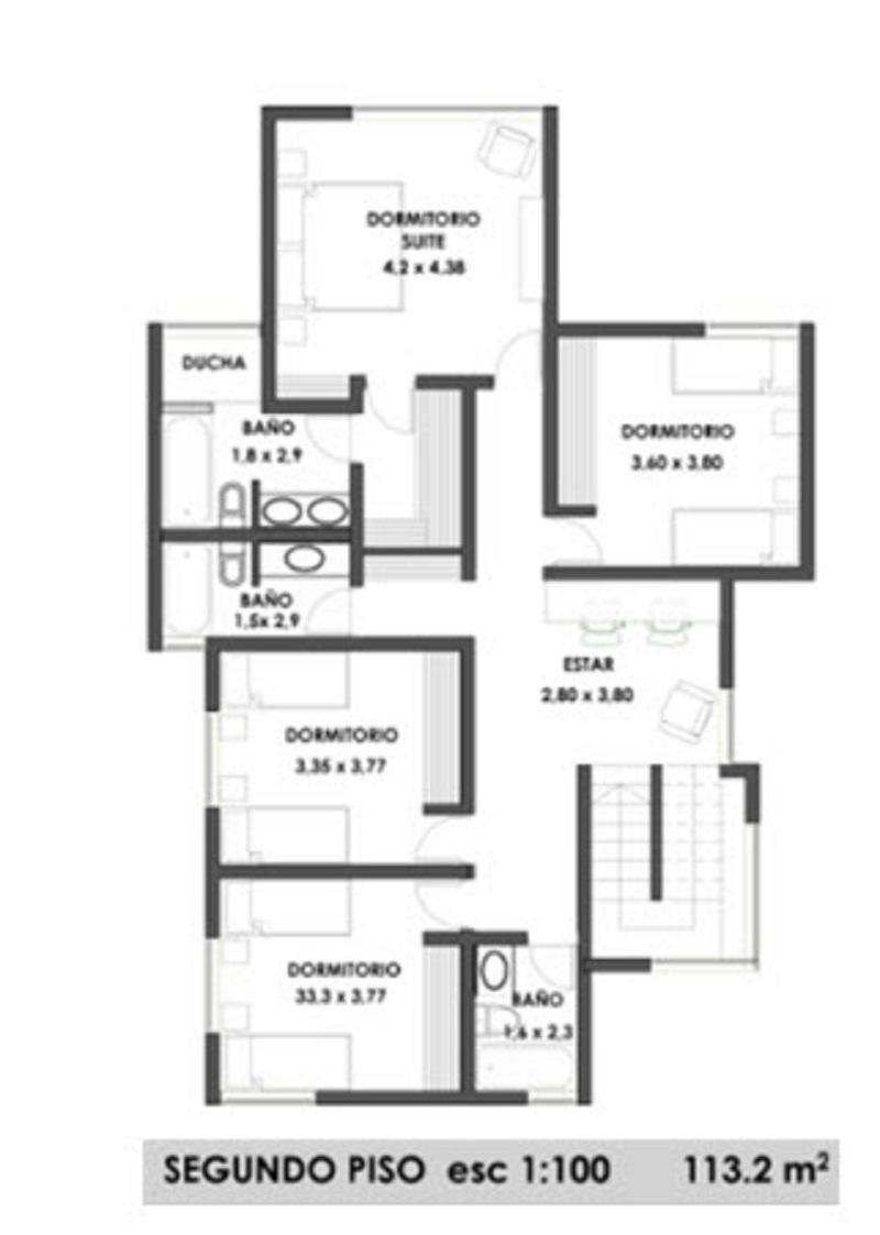 Plano de gran casa de dos pisos de 240 m2 - Plano piso 40 metros cuadrados ...
