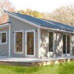 Plano de casa madera de 66 m2 habitables