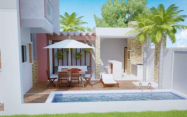 Plano De Lujosa Casa Mediterránea