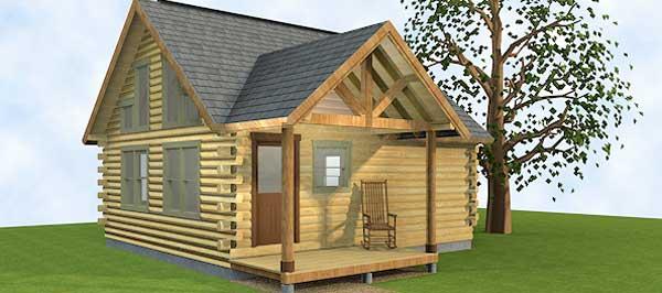 Ver plano de casa de madera con 2 dormitorios y 1 piso - Planos de cabanas de madera ...