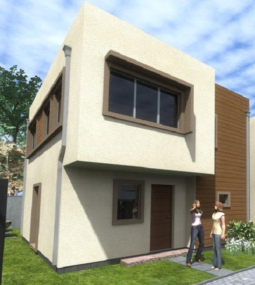 Planos de casa de dos pisos de 93 m2 for Modelos de fachadas para casas de 2 pisos