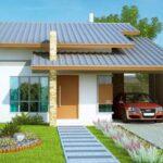 Plano de cabaña mediterránea con bonita fachada de 96m2