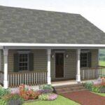 Planos clásica de cabaña de 75 m2