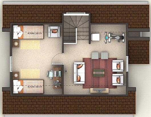 Planos de espectacular casa de 139 m2 for Plano casa moderna 90m2