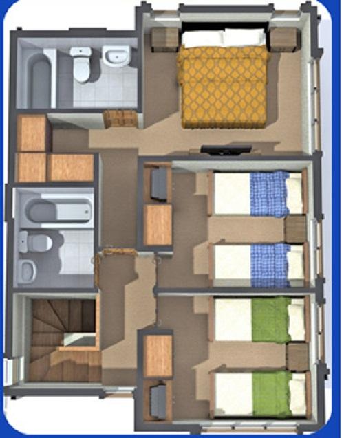 Planos de casa de dos pisos de 93 m2 for Planos para segundo piso