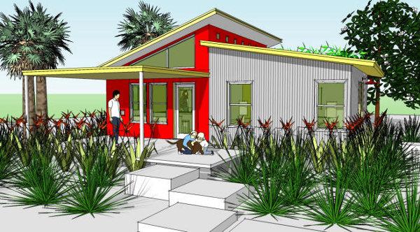 Plano gratis de casa prefabricada con 60 m2 for Techumbres modernas