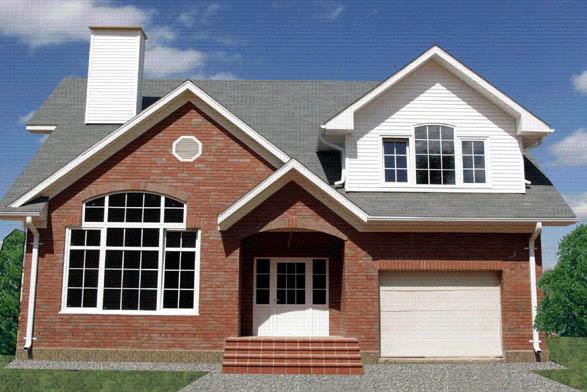 Plano de casa americana de 2 pisos y 200 m2 for Pisos elegantes para casas