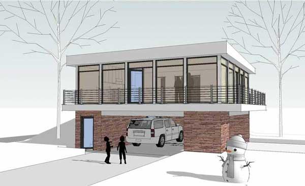 Plano o dise o de casa de 2 pisos para terreno peque o for Se puede dividir un piso en dos