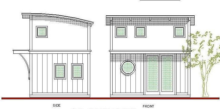 plano de caba a muy peque a tipo loft de piso y medio. Black Bedroom Furniture Sets. Home Design Ideas
