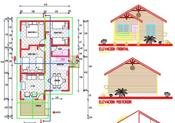 planos de casas en autocad para descargar