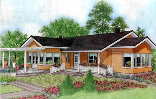 Plano De Una Gran Casa De Campo