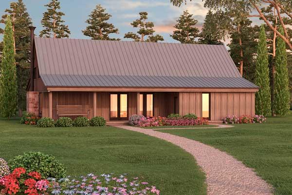 Plano de casa con un cl sico estilo de plano para casa de - Fachadas casas campo ...