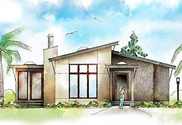 Plano moderno de casa de 106m2 for Casa moderna 90m2
