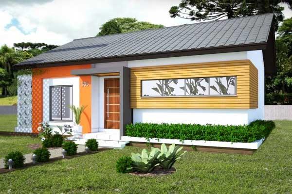 Planos de caba a de 2 dormitorios 68m2 en un solo nivel for Casas modernas un nivel