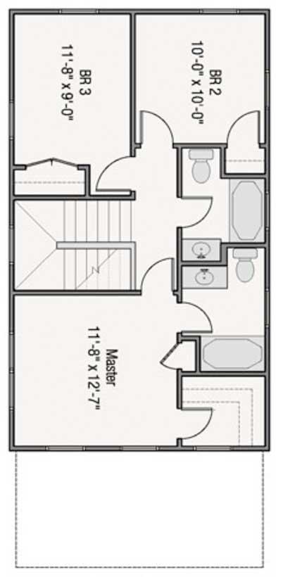 Dise o y plano de casa para sitio angosto de 6 metros de ancho for Planos para segundo piso