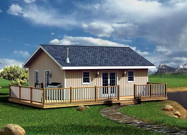 Planos de caba a de 53m2 con 2 dormitorios for Disenos de cabanas