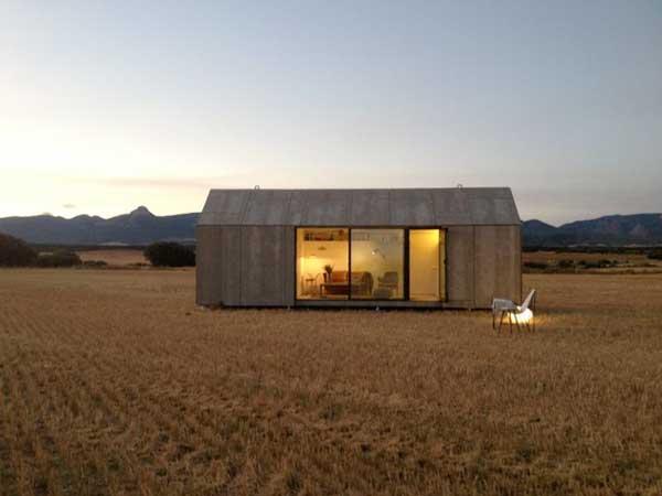 El plano peque o de una casa prefabricada y m vil - Vivir en una casa prefabricada ...