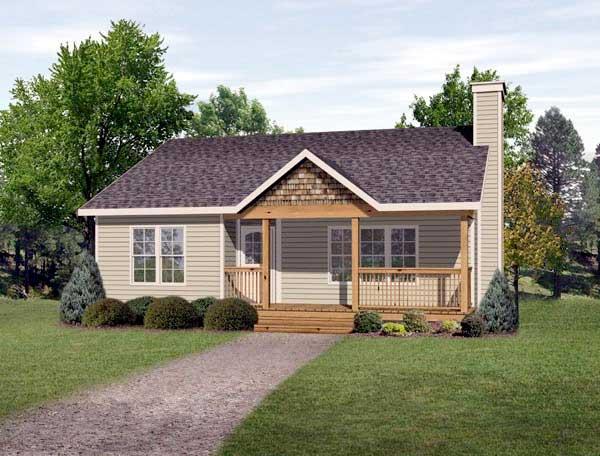 Plano de caba a de 84m2 con 2 dormitorios for Fotos fachadas de casas sencillas y bonitas
