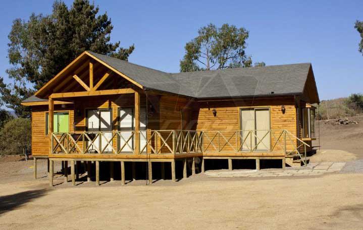 Plano de casa de madera de 1 piso 100m2 y 3 dormitorios - Habitaciones de madera prefabricadas ...