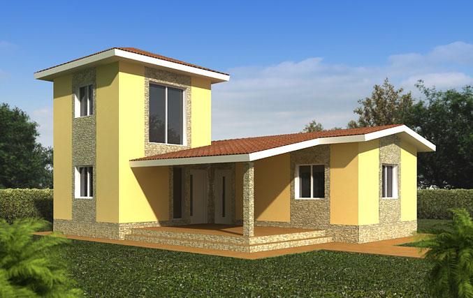 Peculiar planos de casa con dos niveles y m s 100m2 for Modelos de casas de madera de un piso