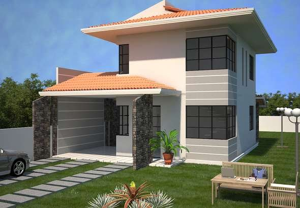 Planos de casas y caba as estilo mediterr neas 3 dise os for Disenos de cabanas