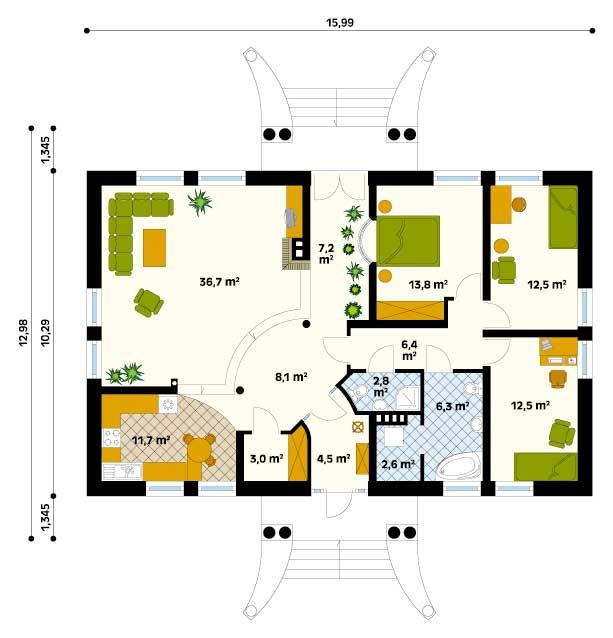 Planos de casa grande estilo americana de 1 piso - Casas americanas planos ...