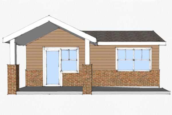 Planos de casa de 45m2 con 1 solo dormitorio - Planos casas pequenas ...