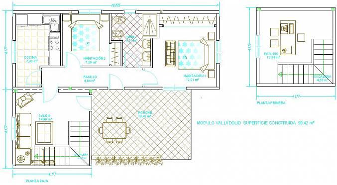 planos de casas de 100m2
