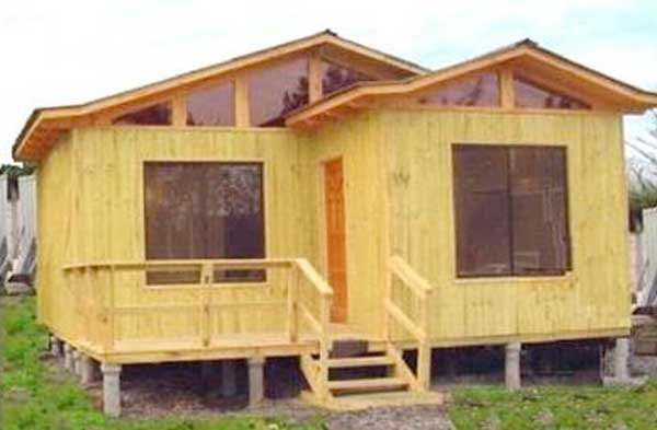 Plano de casa de 54m2 con 3 dormitorios - Casas madera economicas ...