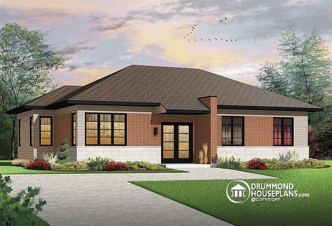 Plano de casa con 3 dormitorios de m s de 120m2 - Single bedroom house projects modern affordable dwellings ...