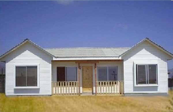 Plano de casa de 64m2 y 3 dormitorios for Modelos de casas de madera de un piso