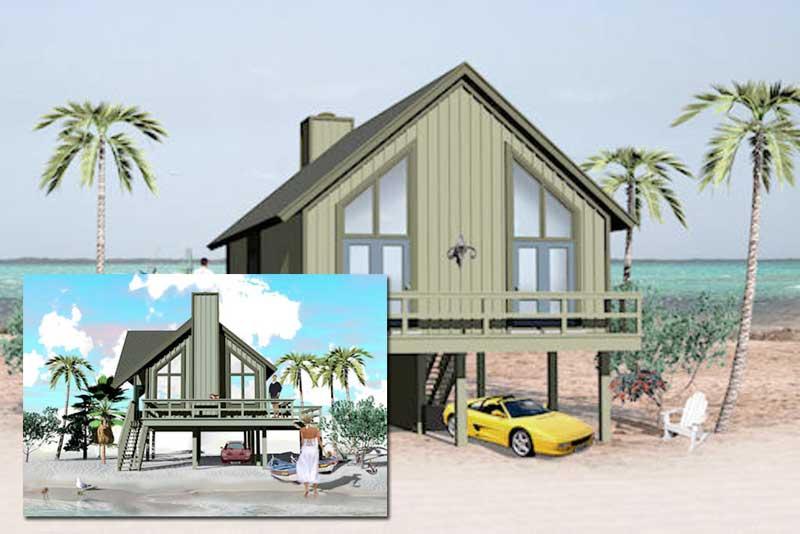 Plano y dise o de casa para construir a orilla de playa for Disenos para construir una casa