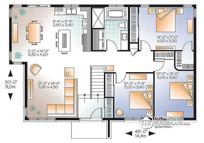planos de casas de 2 pisos 120m2