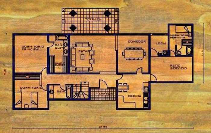 Dise o y plano de casa de moderna de m s de 200m2 for Diseno de interiores de casas planos