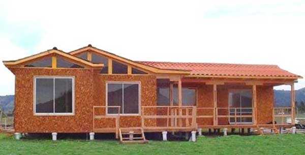 Los planos de casa hermosa de 79m2 con 3 dormitorios y 2 ba os - Casas de madera planos ...