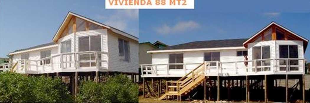 Planos de casa de 88 m2 montada sobre palafitos - Ver casas de madera ...
