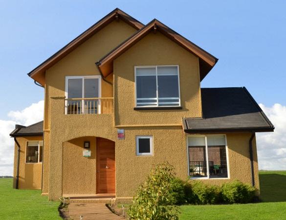Planos de tradicional y preciosa casa de dos pisos de 110 m2 for Fachadas de casas modernas para colorear