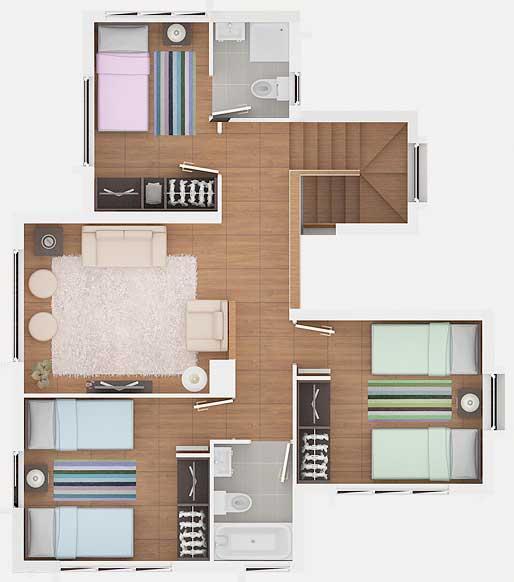 planos de casa estilo mediterr nea de 139m2 y 2 pisos