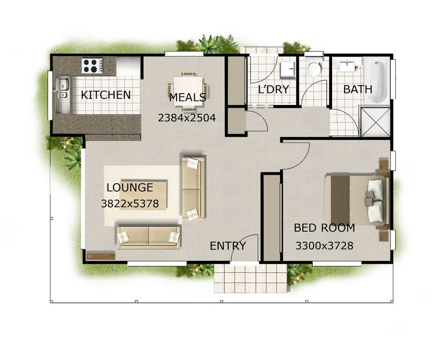 Planos de hermosa casa de 80 metros cuadrados for Looking for house plans