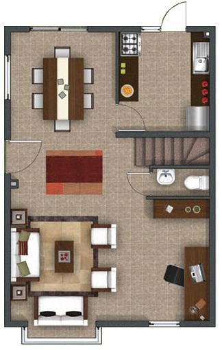 hermosa casa de dos pisos de mas de 90 m2