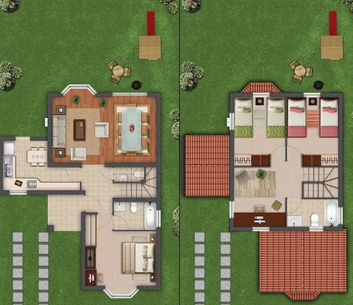 Plano Primer y segundo piso