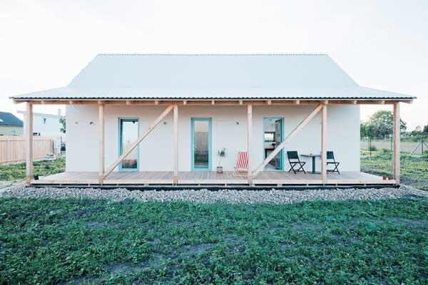Plano de casa moderna de piso y medio estilo loft for Casas loft diseno