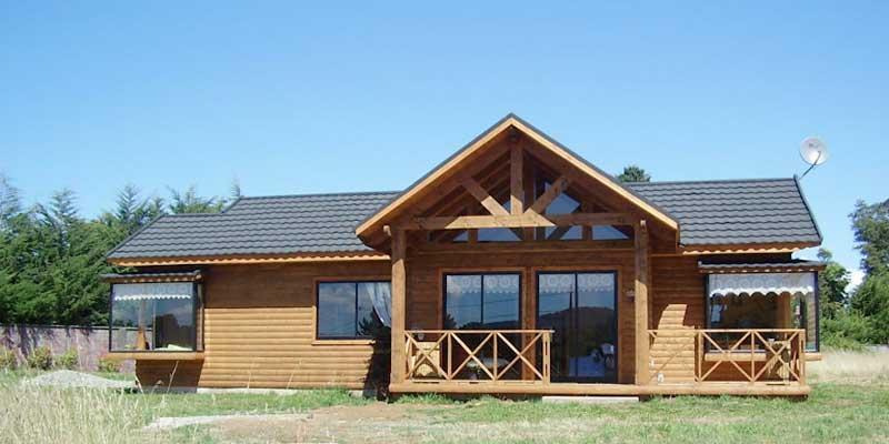 Plano de caba a prefabricada de 86m2 for Fachadas de cabanas rusticas