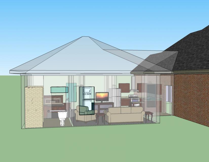 Plano De Casa De 1 Dormitorio 1 Piso 65 M2