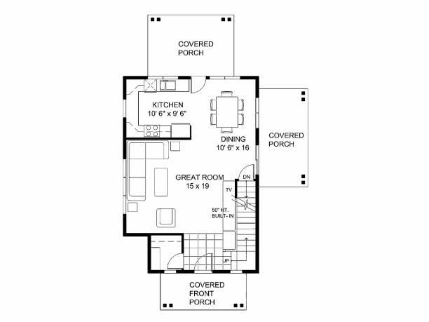 Plano de casa de dos pisos con estilo colonial for Planos de casas gratis